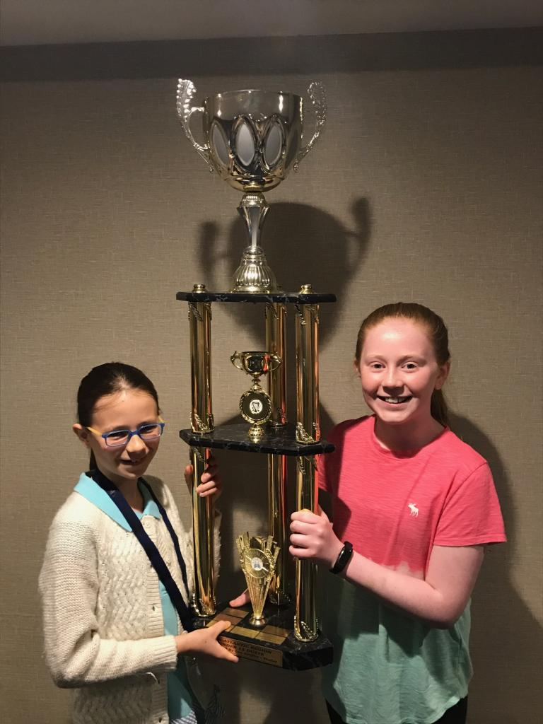 Nora wins 1st place in U-12 duets with a friend from Boston in the 2018 mid-Atlantic fleadh in NJ!