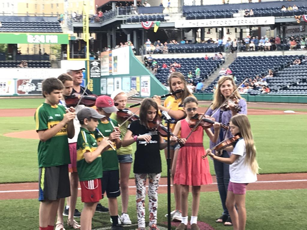 Playing at Dunkin Donuts Park in Hartford for Irish night