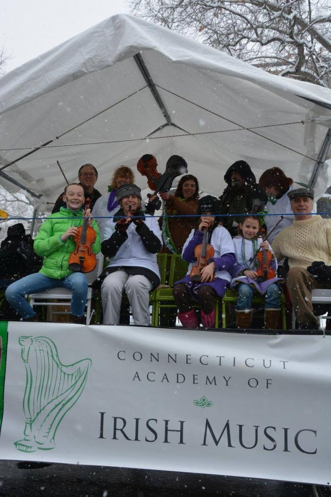 Hartford St. Patrick's Day Parade in snow!